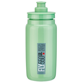 Elite Fly Bidon 550ml, green/grey logo